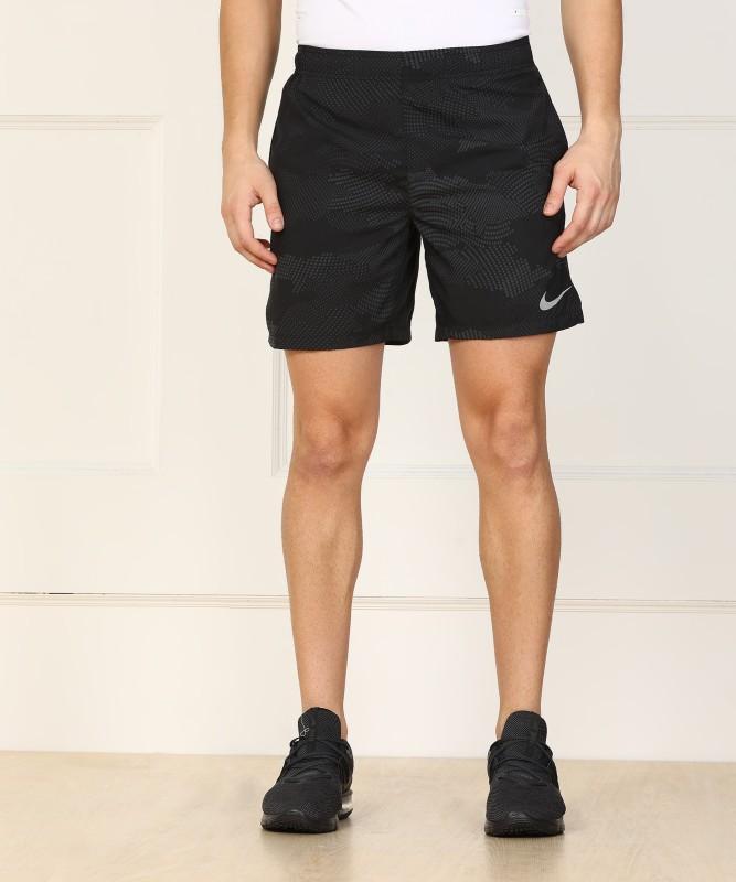 Nike Printed Men Black Sports Shorts