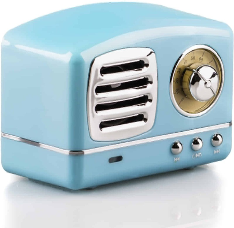 Noizzy Box Retro XS Prime Vintage Wireless Portable Travel Bluetooth Speaker with USB, TF Card, AUX in and Built in Mic (Aqua Blue) 3 Bluetooth Speaker(Aqua Blue, Stereo Channel)