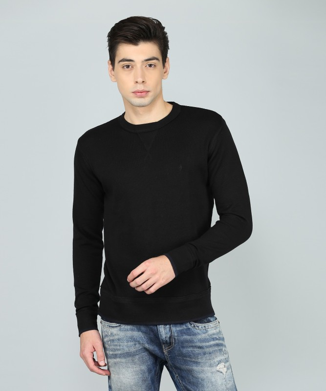 Indian Terrain Full Sleeve Solid Mens Sweatshirt