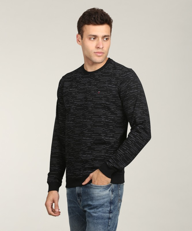 LP Jeans by Louis Philippe Full Sleeve Printed Mens Sweatshirt
