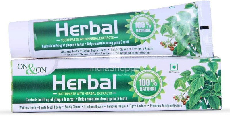 on and on Herbal Vegetarian Toothpaste Toothpaste(150 g)