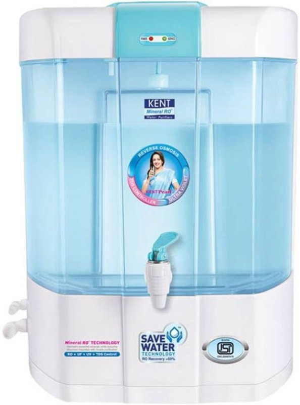 Kent PEARL (11002) 8 L RO + UV + UF + TDS Water Purifier(WHITE BLUE)