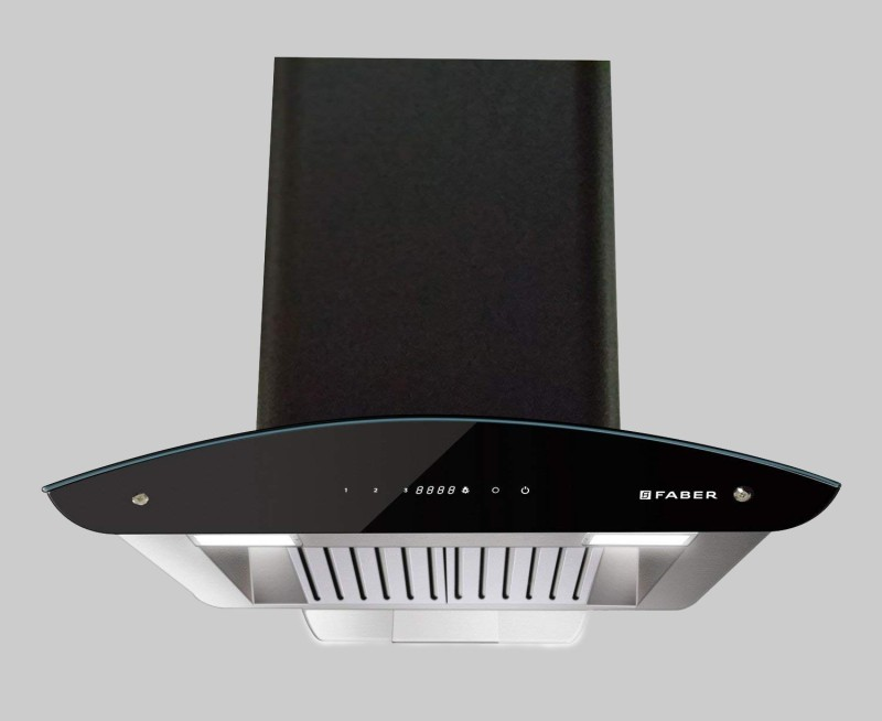 FABER Primus Energy TC HC BK 90 cm , 1500m3hr auto clean Wall Mounted Chimney(Black 1500)