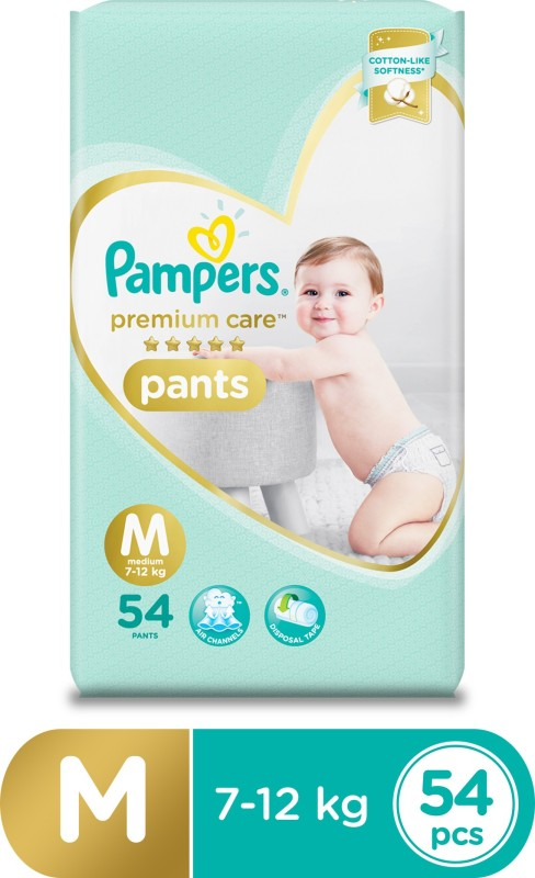 Pampers Premium Care Pants Diapers - M(54 Pieces)