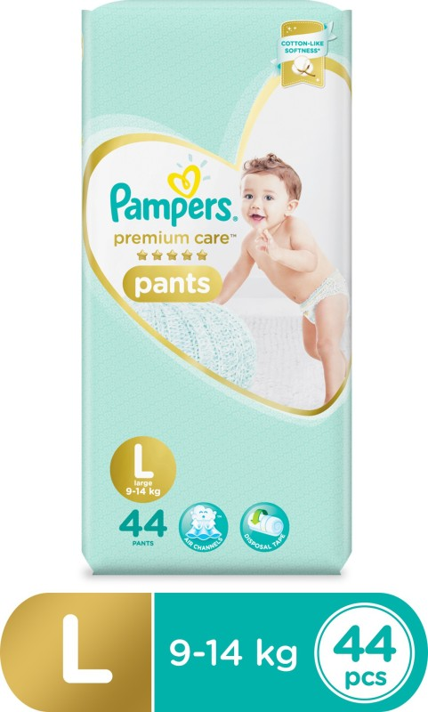 Pampers Premium Care Pants Diapers - L(44 Pieces)