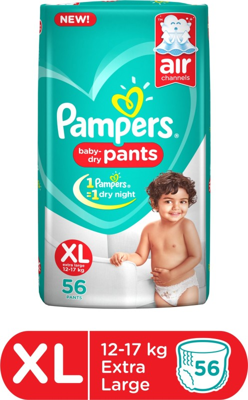 Pampers Baby-Dry Pants Diaper - XL(56 Pieces)