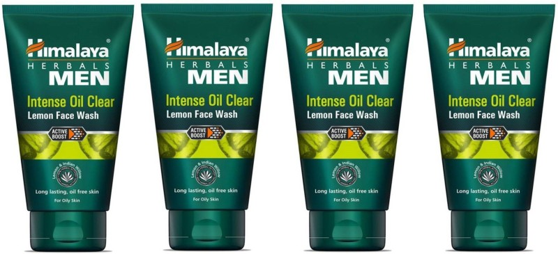 Himalaya Intense Oil Clear Lemon Face Wash (100 ml) PACK OF 4 Face Wash(400 ml)