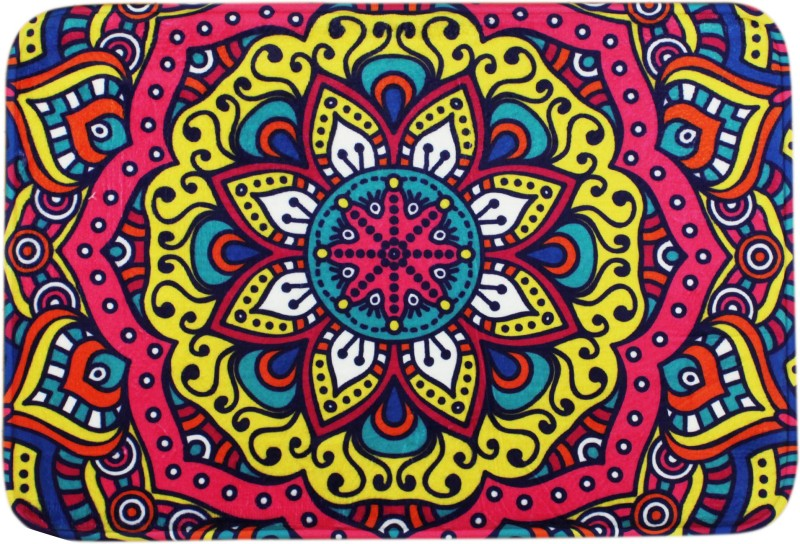 AVMART Cotton, Microfiber, Polyester Door Mat(Multicolor, Medium)