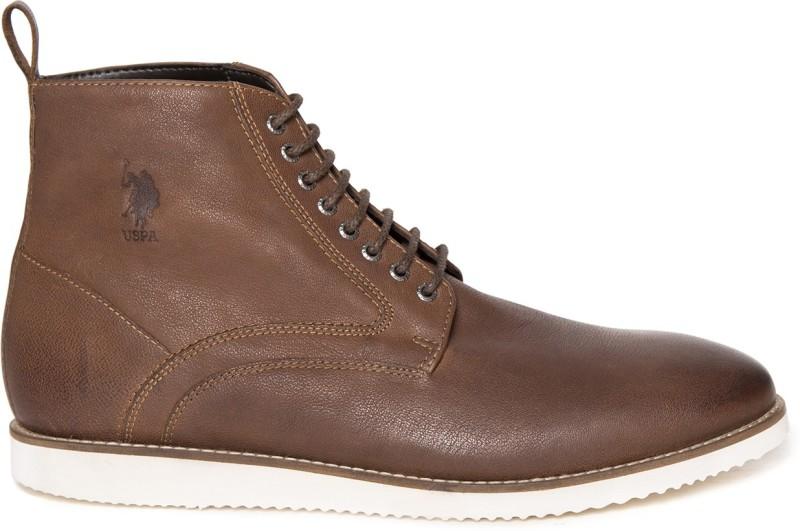 U.S. Polo Assn Boots For Men(Tan)