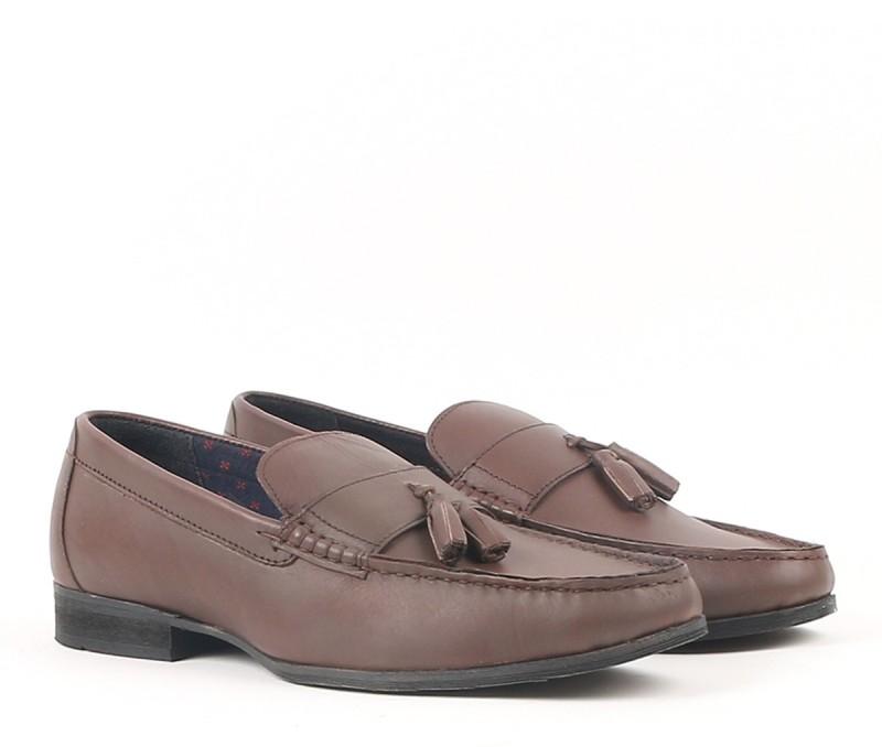 Carlton London Loafers For Men(Brown)
