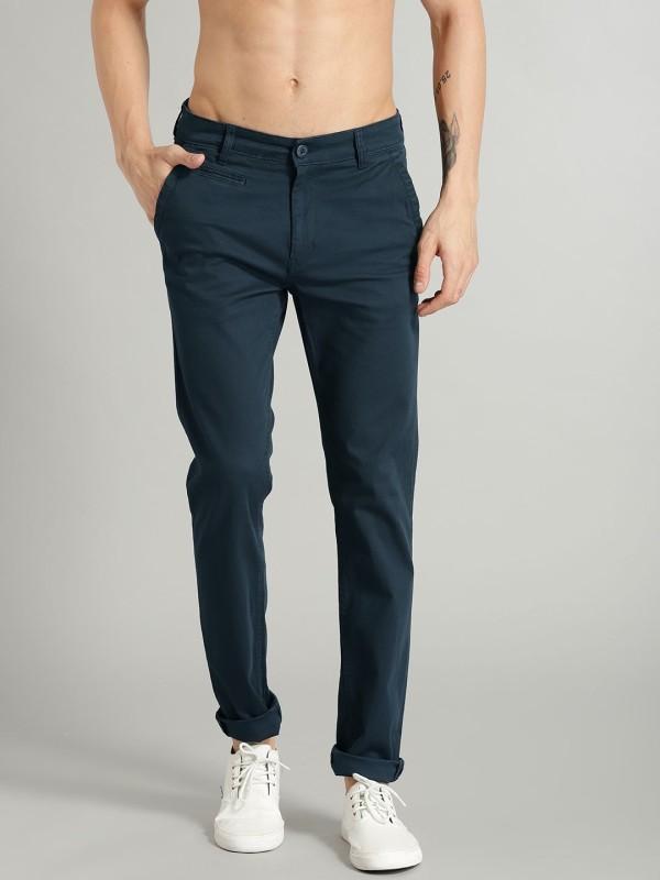 Roadster Slim Fit Men Blue Trousers