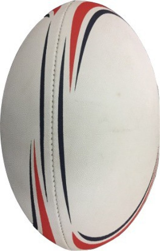 Le Buckle Rugby Ball Rubber Rugby Ball - Size: 5(Pack of 1, Red)