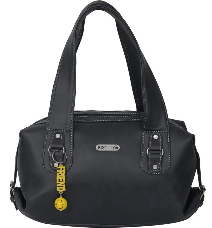 FD Fashion Soft Luggage Women Black Shoulder Bag