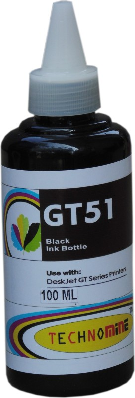 Technomine HP GT 5810,5820 Desktop Inkjet Printer Black Compatible ink 100 ml per pack set of 2 ink botlle Single Color Ink Cartridge(Black)