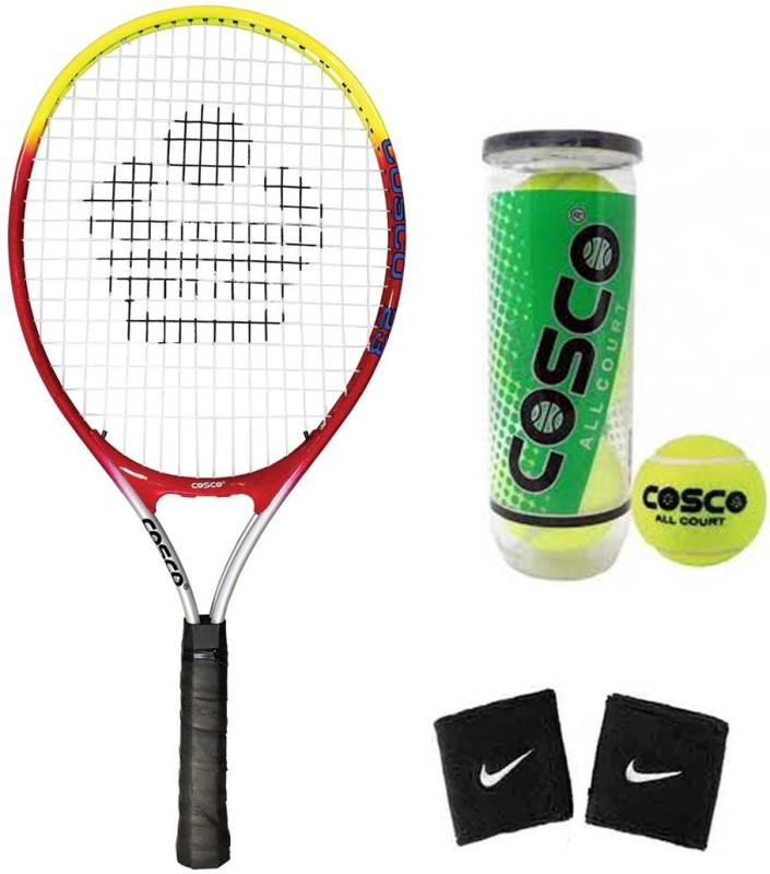 Cosco Drive 23 (Junior Size - 23 Inch) (Age Group - 6 to 8 Years) Tennis Racquet (Color on Availability) with Tennis Ball