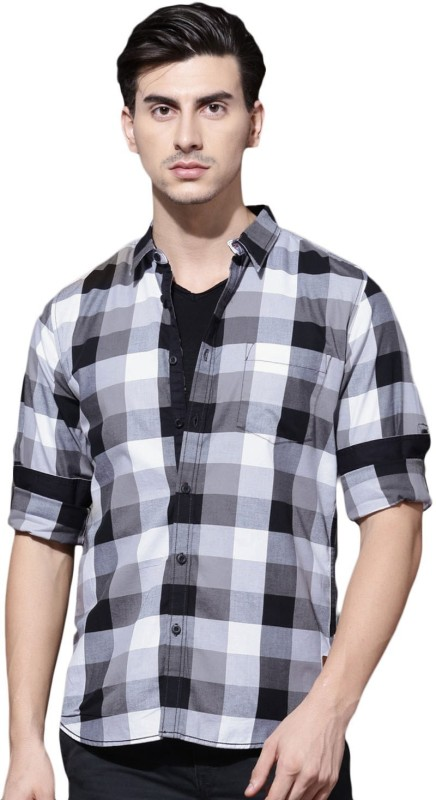 Roadster Men Checkered Casual Multicolor Shirt