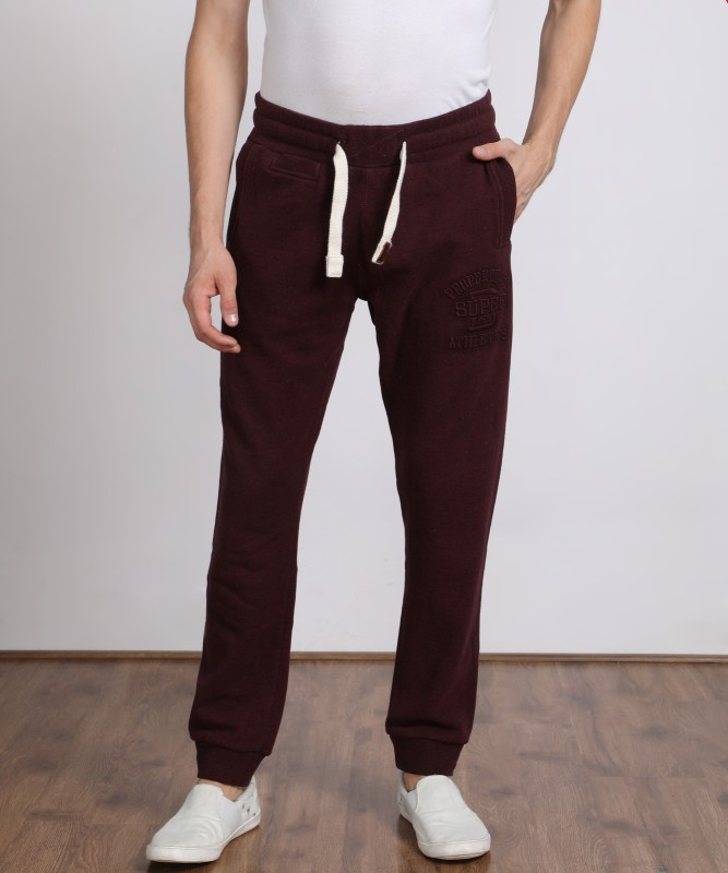 Superdry Solid Men Maroon Track Pants