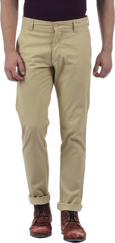 Izod Regular Fit Men Beige Trousers