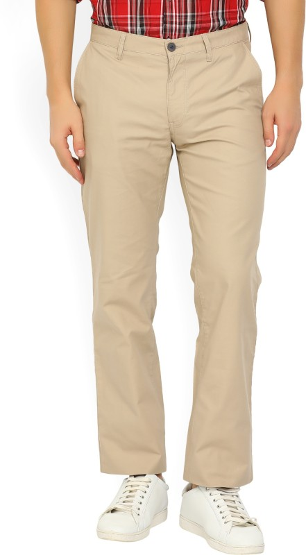 Indian Terrain Regular Fit Mens Beige Trousers