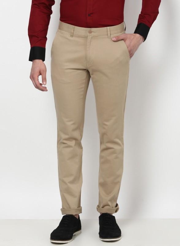 Monte Carlo Slim Fit Men Brown Trousers