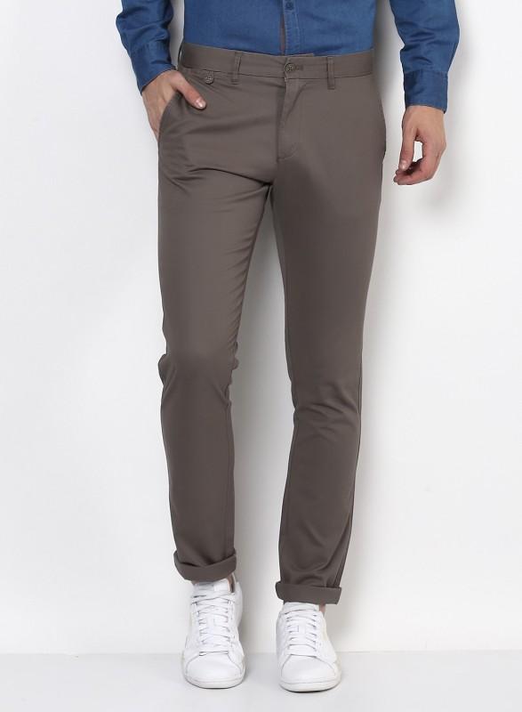 Monte Carlo Regular Fit Men Grey Trousers