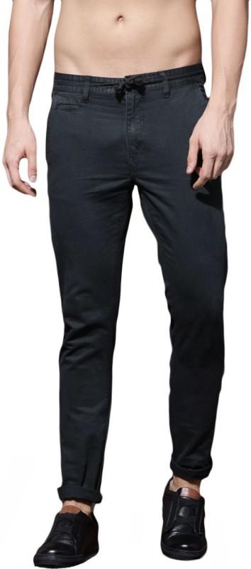 Roadster Slim Fit Men Black Trousers