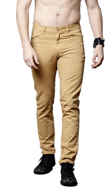 Roadster Slim Fit Men Brown Trousers