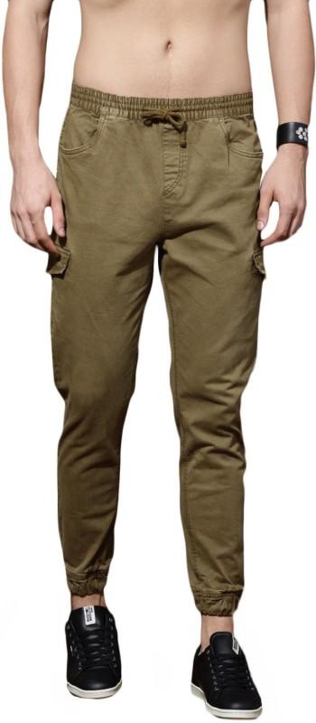 Roadster Slim Fit Men Dark Green Trousers