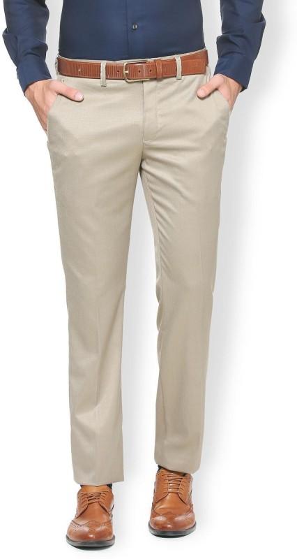 Van Heusen Skinny Fit Men Beige Trousers