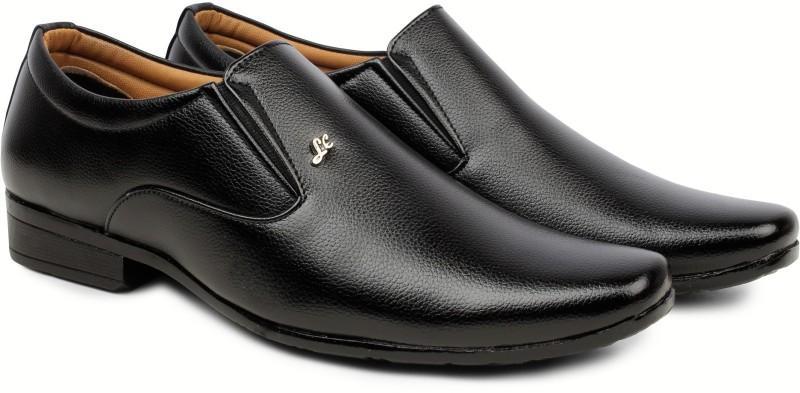Zixer Men's Office Formal shoes Slip On For Men(Black)