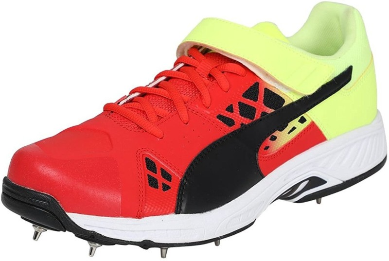 Puma Cricket Shoes For Men(Black, Red, Green)