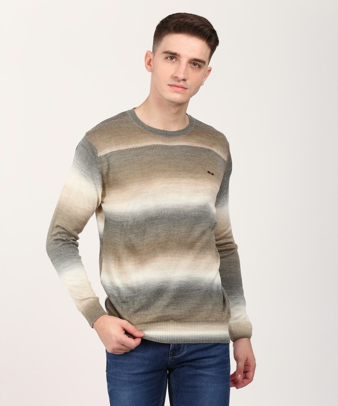 Duke Self Design Round Neck Casual Men Multicolor Sweater
