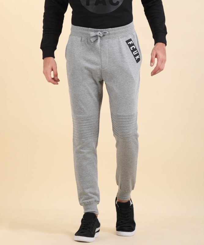 French Connection Solid Mens Grey Track Pants