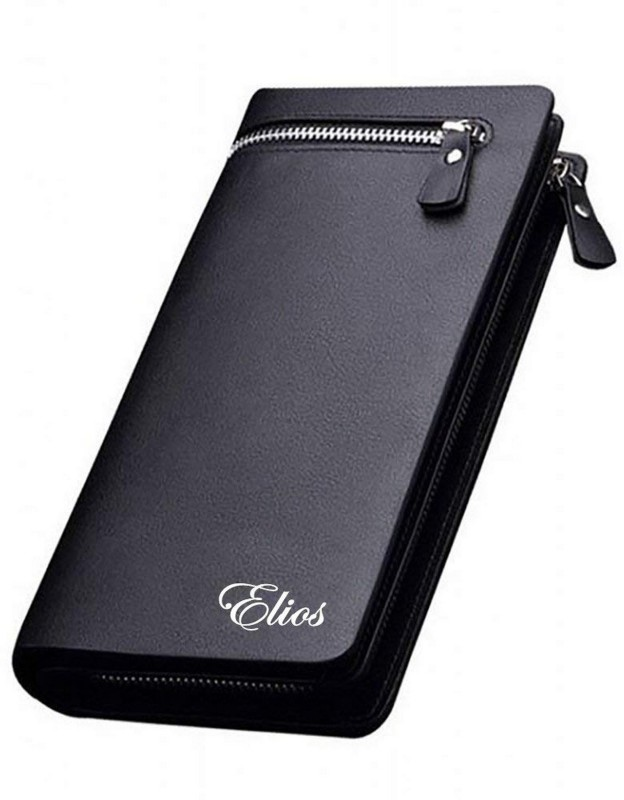 Elios Women Black Artificial Leather Wallet(12 Card Slots)
