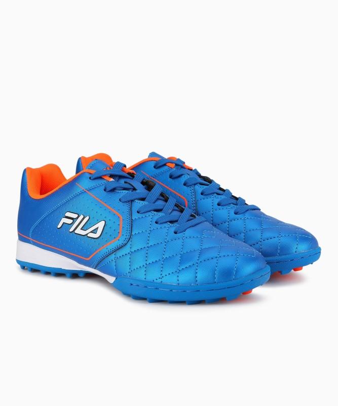 Fila Football Shoes For Men(Blue, Orange)