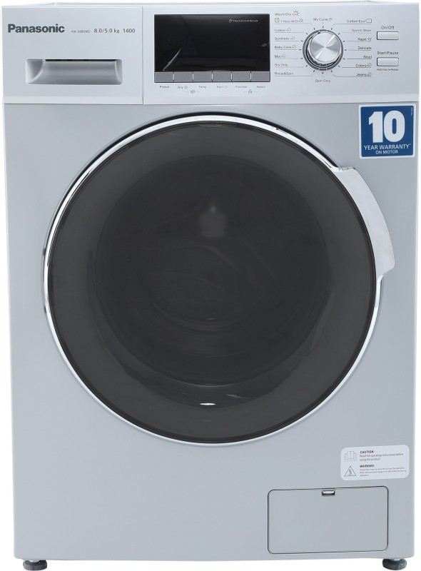 Panasonic 8/5 kg Fully Automatic Front Load Washer with Dryer Silver(NA-S085M2L01)
