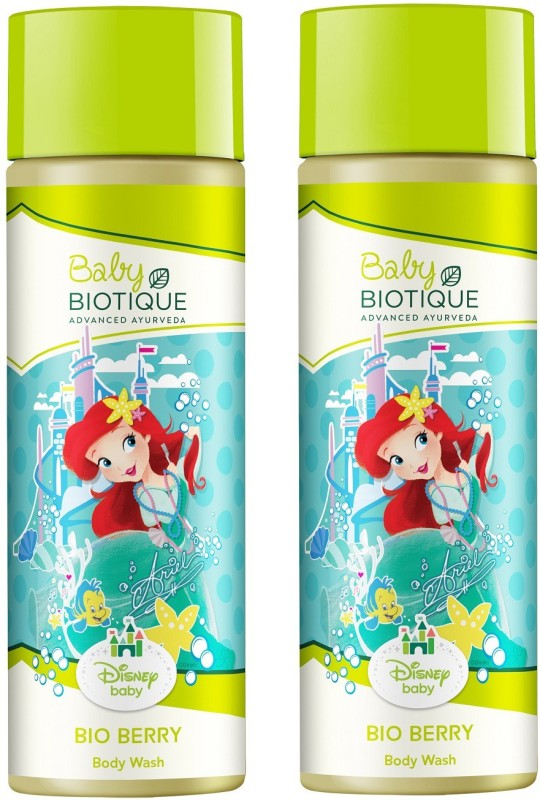 BIOTIQUE BIO DISNEY BERRY 100% SOAP FREE BODY WASH FOR BABY GIRL. 190ML(380 ml)