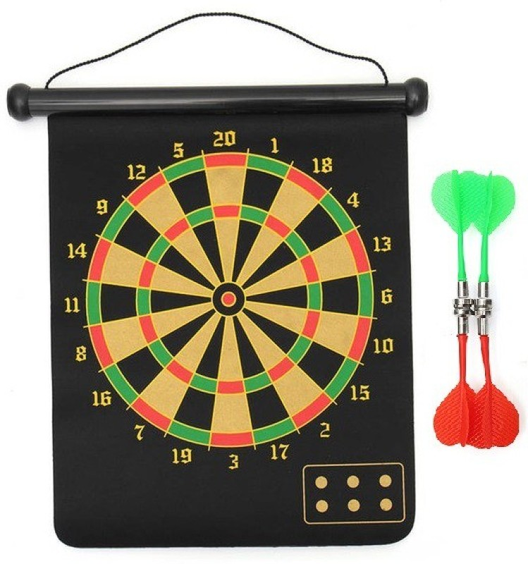 Sahni Sports 17 Inches Roll-up Magnetic Dart Board 17 inch Dart Board(Black)