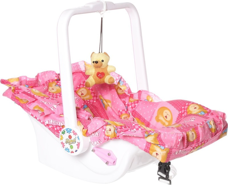 Archana Multipurpose(7 in 1) carry cot with mosquito net and Sun shade. Non-electric(Pink)