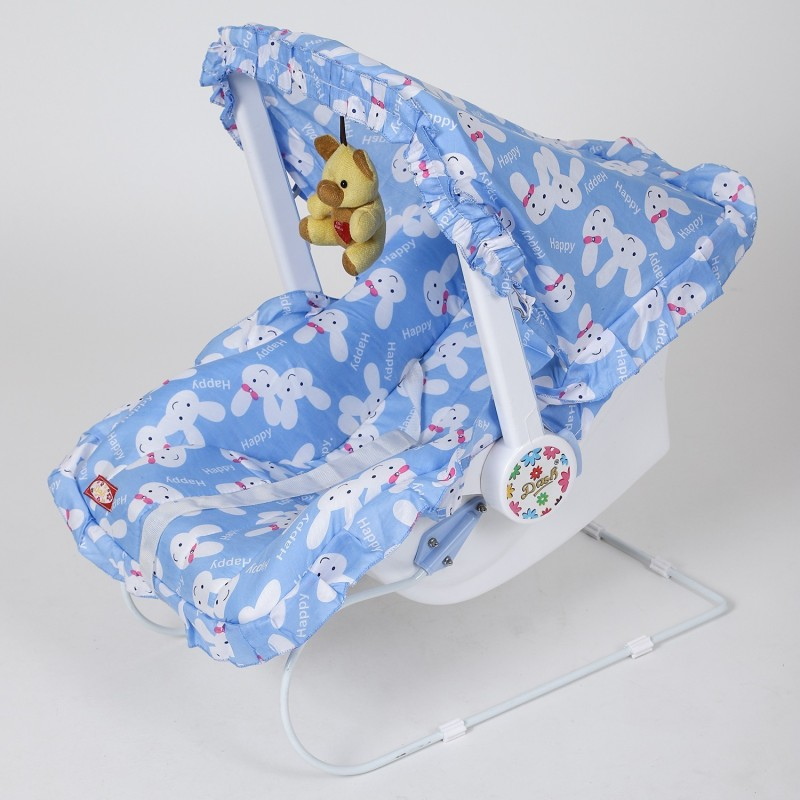 Dash Multipurpose (9 in 1) Blue baby carry cot Swing with mosquito net, Sun shade and Harness Swings(Blue)