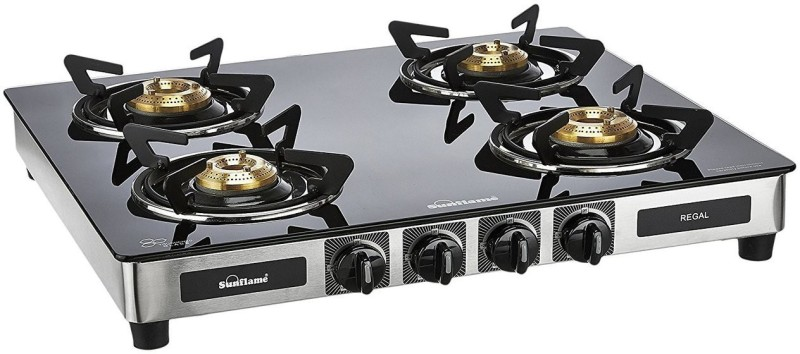 Sunflame Regal Stainless Steel Manual Gas Stove(4 Burners)