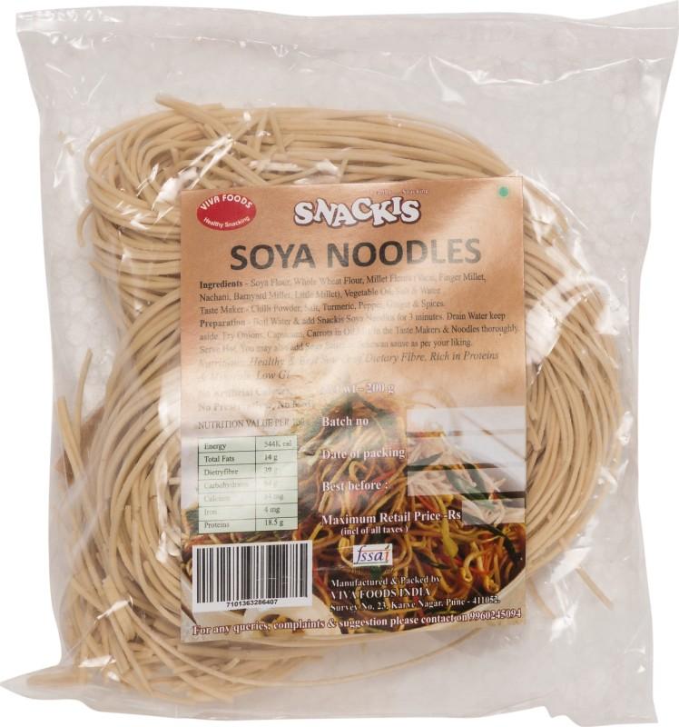 viva foods SOYA NOODLES Hakka Noodles Vegetarian(200 g)