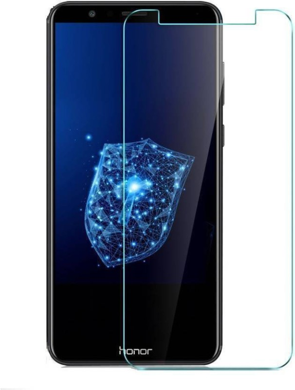 Optegic Tempered Glass Guard for Honor 7X (Black, 32 GB) (4 GB RAM)(Pack of 1)