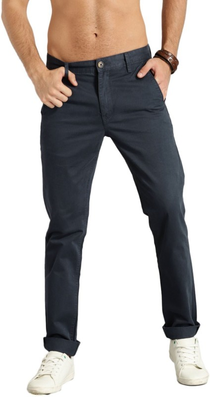 Roadster Slim Fit Men Grey Trousers