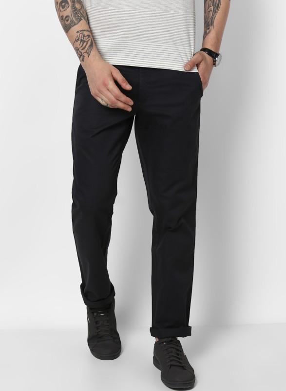Monte Carlo Regular Fit Men Black Trousers