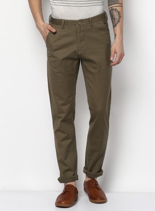 Monte Carlo Slim Fit Men Dark Green Trousers