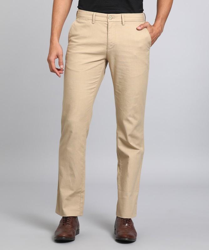 Indian Terrain Regular Fit Men's Beige Trousers
