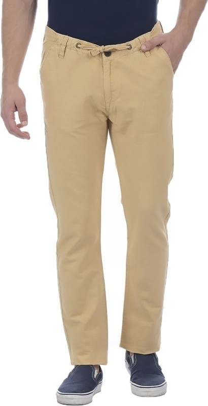Pepe Jeans Slim Fit Men Beige Trousers