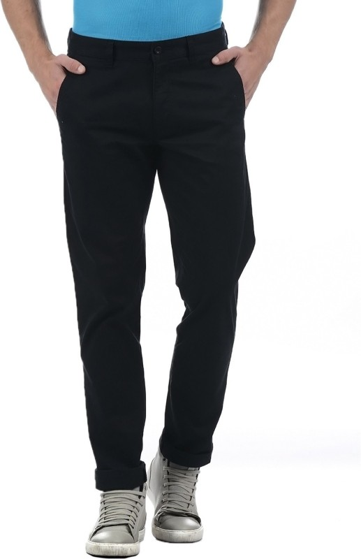 Izod Regular Fit Men Black Trousers