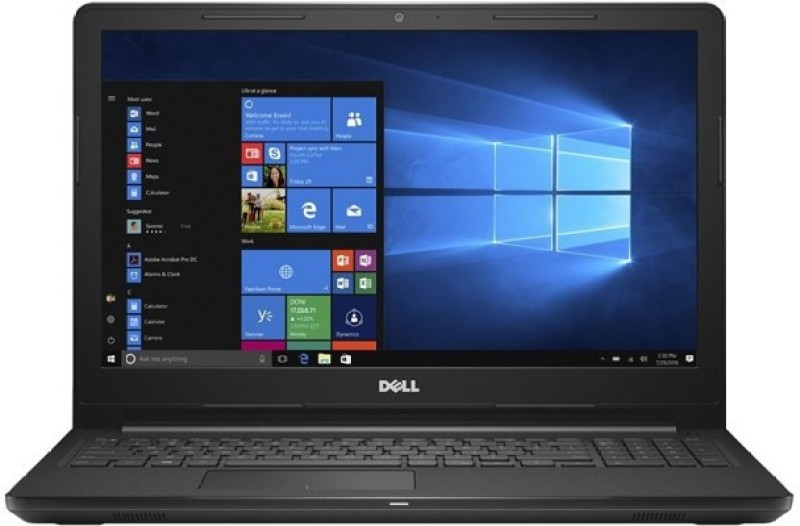 Dell Inspiron 15 3567 Core i3 7th Gen - (4 GB/1 TB HDD/Windows 10) 3567 Laptop(15.6 inch, Black, With MS Office)